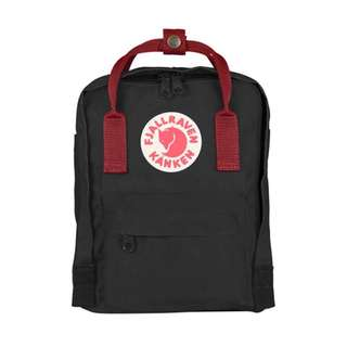 [PREORDER] FJALLRAVEN KANKEN MINI BACKPACK (BLACK/RED)