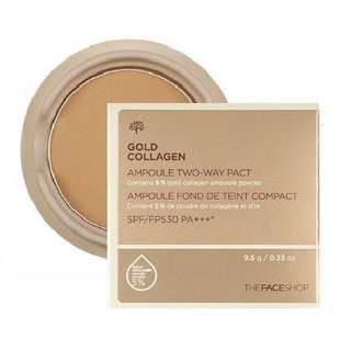 The Face Shop Gold Collagen Ampoules Two-Way Pact