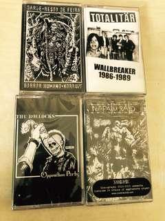 Punk hardcore punk cassette tapes