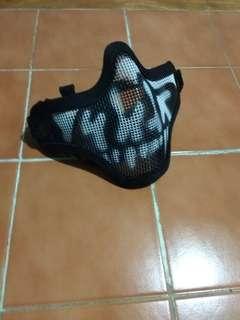 Black Tactical Metal Mesh Half Face Mask