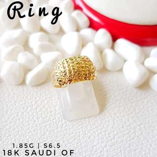 Saudi gold 18k ladies ring