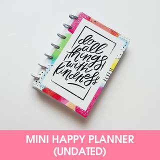 🚚 12 Months – UNDATED - MINI Happy Planner - Do all Thing