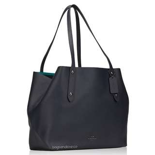 Coach Large Tote in Polished Pebble Leather
