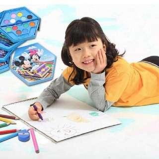 4 in 1 Crayon Color  46 pcs 4 set Crayon Warna Alat Mengambar Karakter - mickey