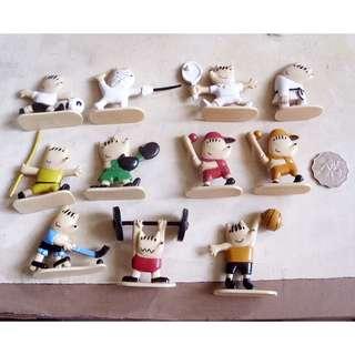 92年奧運會吉祥物公仔運動項目造型可口可樂公仔13隻