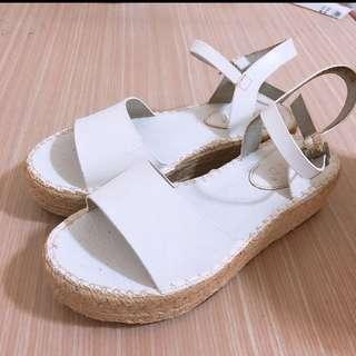 🚚 正韓 白色厚底鞋