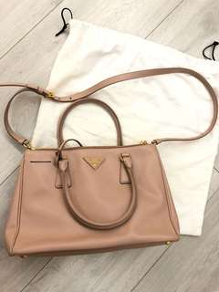 Prada Saffiano Leather Bag 淡粉紅色 100%real
