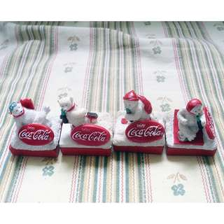 90年代北極熊造型印章可口可樂擺設一套