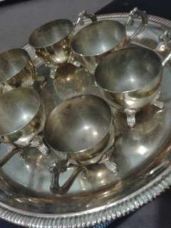Antique Tembaga cup set