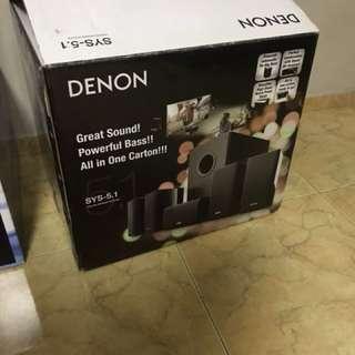 Denon 5.1 speaker system.