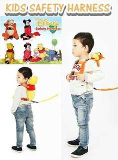 Safety Harness Cartoon Backpack For Kid