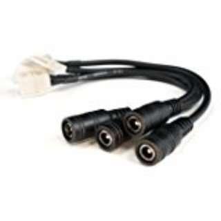 648.  HitLights LED Light Strip Connector, 8mm Single Color 3528 - Strip to DC Jack, (2 PC)