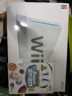 Nintendo Wii console + Wii Fit