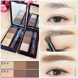 【全新】 日本Kanebo KATE三色立體眉粉/造型眉彩餅帶眉刷 棕眉墨 2色可選