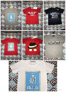 Brand shirt for 1-2yrs old take all