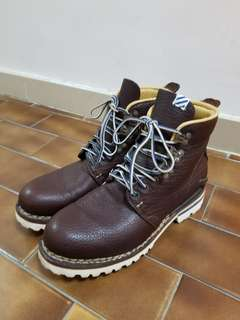 Visvim brown leather boots US9