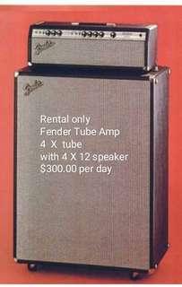 Rental Fender Bassman tube amp with 4 x 12 cabinet