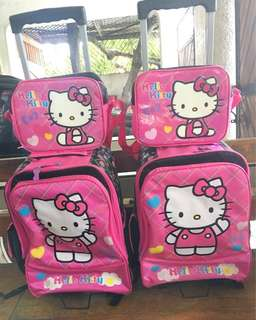 Hello Kitty trolley bag with lunch bag 1 sold 1 available