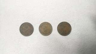 1931,1933及1934香港一仙