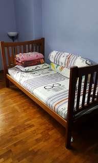 Single Bed Frame + Foam Mattress On sale