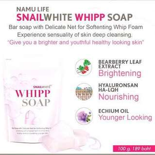 Snail White Whipp Soap from Thailand