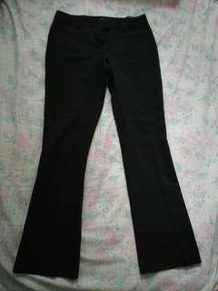 Black topshop work pants