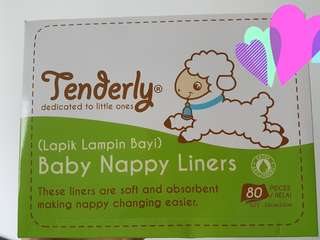 Tenderly Nappy Liners (80pcs/box)