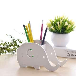 Tempat Pencil & Pulpen HP Motif Gajah  Rak multi Fungsi Serba Guna - Putih