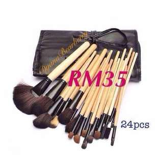 24pcs makeup brushes set with bag