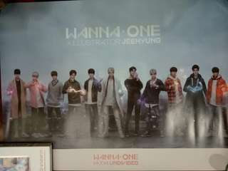 Wanna One Undivided Official Poster - Artbook ver