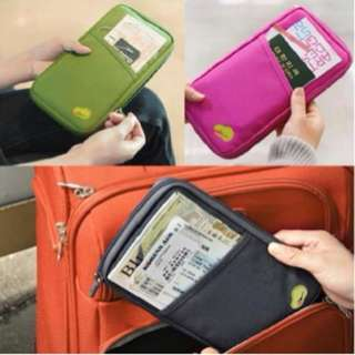 Korean travel id holder / dompet pasport / pasport organizer paspor - Hijau muda
