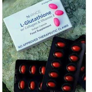 nhance l-glutathione with collagen and vitamin e