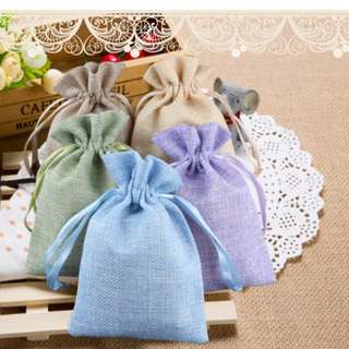 Pastel Draw String Bag/ Berkat / Doorgifts