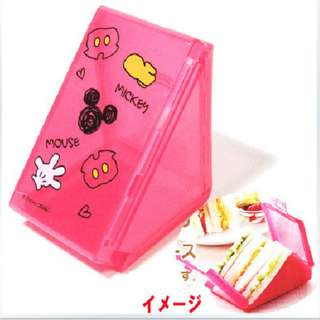 (RA 27) Mickey Mouse Folding Triangular Sandwich Case - Skater