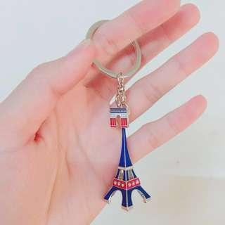 🚚 夏慕尼限量巴黎鐵塔鑰匙圈 x2