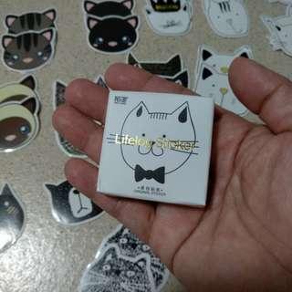 Cute cat paper sticker