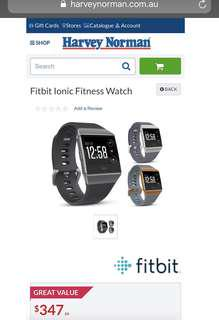 Fitbit Ionic Smart Fitness Watch (Blue Grey/Silver)