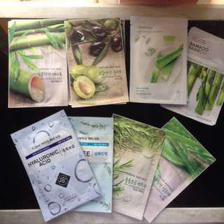 Korean Sheet Mask (Nature Republic Innisfree Etude Thefaceshop)