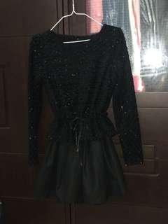 🚚 (9成新)黑色連身裙