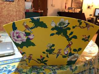 Yellow oriental hamper box