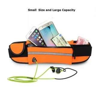 running belt waterproof - tas pinggang olahraga - go belt tas olahraga - Biru