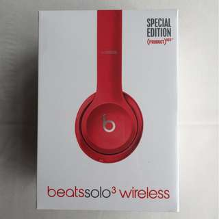 Beats Solo 3 Wireless 紅色 藍芽耳機