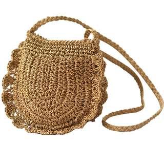 預購夏日度假草編包 側背包 小背包 單肩包 沙灘海灘 度假