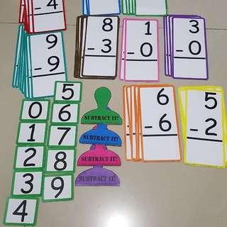 Subtraction flashcard