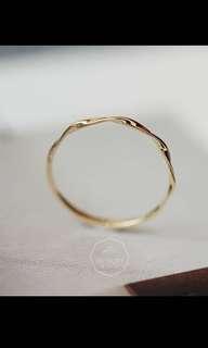 14k黃金水波紋戒指