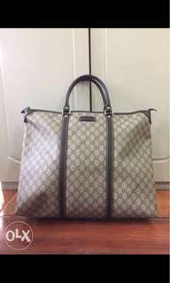 Authentic Gucci Luggage Tote men's women's Unisex bag