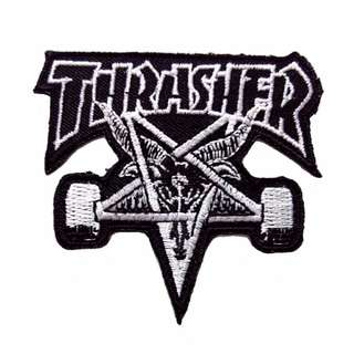 Thrasher Skateboard Logo Iron On Patch