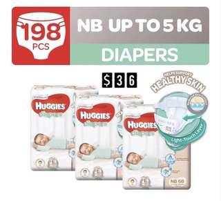 Huggies Platinum Tape Diapers Carton Sales