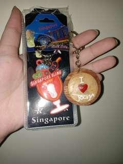 Singapore n jogja gantungan kunci