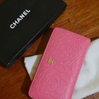 CHANEL Pink Wallet (Class AA+)